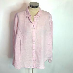 J. Crew Baird McNutt linen slim button down shirt